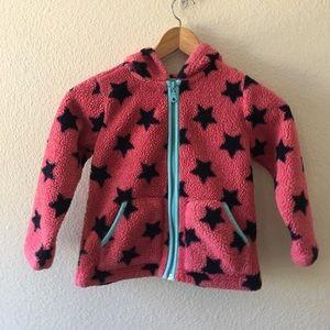 Hanna Andersson fleece like full zip jacket Sz 110